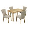 LPD Oakridge Naple Dining Table and 4 Chairs