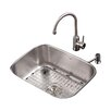 """Kraus 23"""" x 17.6"""" Undermount Kitchen Sink with Faucet and Soap Dispenser"""