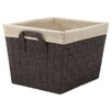 Whitmor, Inc Woven Tote Basket with Liner