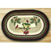Earth Rugs Christmas Birdhouse Oval Brown Patch Area Rug