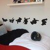 Nutmeg Wall Stickers 6 Piece Skateboarders Wall Sticker Set