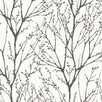 "Bath Bath Bath Volume IV 33' x 20.5"" Delamere Tree Branches Wallpaper Roll"