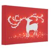 Illuminated Canvas Reindeer Graphic Art Wrapped on Canvas in Red