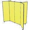 ScreenFlex 6 Panel Mobile Display Tower Free Standing Bulletin Board
