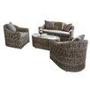 Rowlinson Bunbury 4 Seater Sofa Set with Cushions