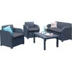 Parcel in the Attic Trieste 4 Seater Sofa Set with Cushions