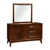 Hokku Designs Dionn 3 Drawer Combo Dresser with Mirror
