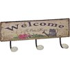 Château Chic Welcome to Our Home Wall Mounted Coat Rack