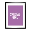 Star Editions Plain and Simple 'Special Girl' Framed Typography