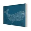 Star Editions Classic Book Art Moby Dick by Herman Melville Typography Wrapped on Canvas