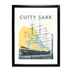 Star Editions The Cutty Sark, Greenwich, London by Dave Thompson Framed Vintage Advertisement