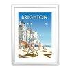 Star Editions Brighton Beach by Dave Thompson Framed Vintage Advertisement
