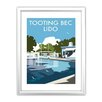Star Editions Tooting Bec Lido, London by Dave Thompson Framed Vintage Advertisement
