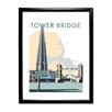 Star Editions Tower Bridge and the Shard, London by Dave Thompson Framed Vintage Advertisement