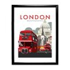 Star Editions London Routemaster by Dave Thompson Framed Vintage Advertisement