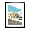Star Editions Manchester Central Library by Dave Thompson Framed Vintage Advertisement