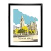 Star Editions Manchester Town Hall by Dave Thompson Framed Vintage Advertisement