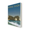 Star Editions Durdle Door, Dorset by Dave Thompson Vintage Advertisement Wrapped on Canvas