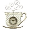 House Additions Metal Art Teapot Wall Clock