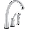 Delta Yes Pilar Single Handle Standard Kitchen Faucet with Side Spray
