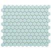 "Retro Hexagon 0.875"" x 0.875"" Porcelain Mosaic Tile in Matte Light Blue"