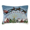 Peking Handicraft Santa Coming to Town Hook Wool Throw Pillow