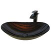 Novatto Volle Glass Oval Vessel Bathroom Sink