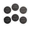 Brewster Home Fashions Charcoal Dry Erase Dots Wall Decal (Set of 6)