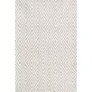 Dash & Albert Europe Diamond White Indoor/Outdoor Area Rug
