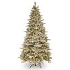 7.5' Green and White Fir Artificial Christmas Tree with 450 Incandescent Clear Lights with Stand