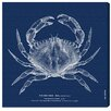 Oliver Gal 'The Red Crab - Blue' by Blakely Home Graphic Art Wrapped on Canvas
