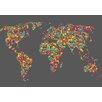 Lés papiers de Ninon Pixelled Map Graphic Art