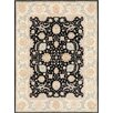 Pasargad Ferehan Hand-Knotted Black Area Rug