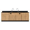Diversified Woodcrafts Wall Service Bench With Door and Drawer