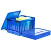 Storex Collapsible Crate with Lid (Set of 2)