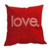 "Sparkles Home Rhinestone ""love"" Throw Pillow"