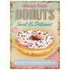 Red Hot Lemon Donuts Vintage Advertisement Plaque