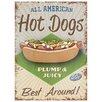 Red Hot Lemon Hot Dogs Vintage Advertisement Plaque