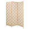 "Woodland Imports 79"" x 57"" 3 Panel Room Divider"