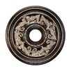 Livex Lighting Ceiling Medallion in Hand Rubbed Bronze with Antique Silver Accents