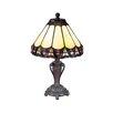 "Dale Tiffany Peacock 13.5"" Table Lamp"