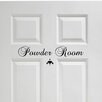 Decal the Walls Powder Room Door Lettering Wall Decal