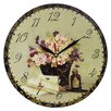 Obique 28cm Romantic Flowers and Letters Wall Clock