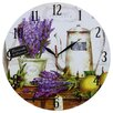 Obique Lavender and Coffee 34cm Wall Clock