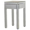 House of Hampton Valentina Mirrored 1 Drawer End Table