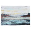 Varick Gallery Abstract Cold' by Jolina Anthony Framed on Canvas