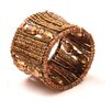 Home Essence Taj Beaded Napkin Ring (Set of 4)