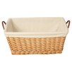 House Additions Willow Rectangular Lining Basket