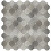 "EliteTile Imagino 17.75"" x 17.75"" Ceramic Patterned Tile in Gray"