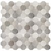 "EliteTile Imagino 17.75"" x 17.75"" Ceramic Mosaic Tile in Cement"